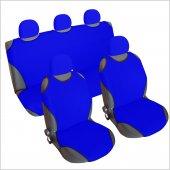 3&#039 Lü Set Spor Oto Koltuk Kılıfı Atlet Tek Renk Başlık Lı Mavi Renk