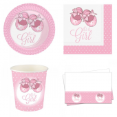 Pembe Patikler Baby Shower Set