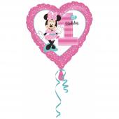 1 Adet Kikajoy Minnie Mouse Kalp Şekilli 1 Yaş Fol...