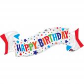1 Adet Kikajoy Happy Birthday Banner Folyo Balon 1...