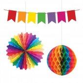 Kikajoy Üçlü Dekorasyon Seti Renkli