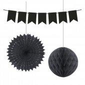 Kikajoy Üçlü Dekorasyon Seti Siyah