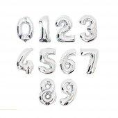 Rakamlı Super Shape Gümüş Renk Folyo Balon 40