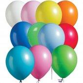 100 Adet Karışık Renk Pastel Balon 10