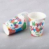 16 Adet Kikajoy Happy Birthday Crazy Karton Bardak