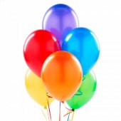 100 Adet Karışık Renkli 12a Latex Balon + Balon Po...