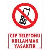 Sönsan Uyarı Levhaları Cep Telefonu . Pvc 25*35