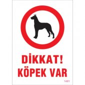 Sönsan Uyarı Levhaları Dikkat Köpek Var Pvc 25*35