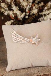 Zirkon Taşlı Yıldız Figürlü Broş
