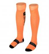 La 2173 Fosfor Turuncu Siyah Futbol Çorabı 36 40 Numara