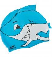 La 2220 Turkuaz Çocuk Silikon Köpekbalığı Bone