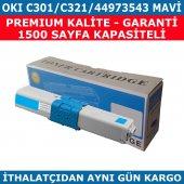 Okı C301 C321 44973543 Mavi Muadil Toner 1.500 Sayfa