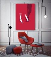 Kırmızı Dans Figürleri Kanvas Tablo