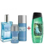 Avon İndividual Blue Erkek Parfüm Seti 4 Lü Set