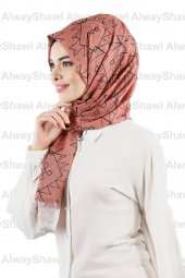 Alwayshawl Desenli Şal Tm 08 Somon Outlet
