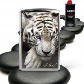 Kişiye Özel Zippo Benziniyle Çalışan Gümüş Gri Metal Çakmak (Zippo Benzin Hediyeli) 010