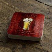 Kişiye Özel Beer Tasarımlı Retro Ahşap Bardak Altlığı 2