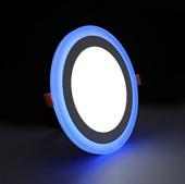 9 Watt Çift Renkli Led Panel Yuvarlak Spot Lamba Armatürü