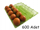 10 Lu Plastik Yeşil Yumurta Viyolü (600 Adet)