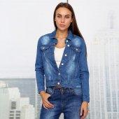 Mpp Klr Şerit Detaylı Kadın Kot Ceket