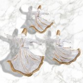 3 Lü Dekoratif Mevlana Beyaz