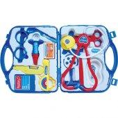 Oyuncak Çantalı Doktor Seti Doktor Çantası Mavi