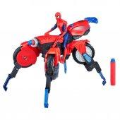 Spider Man Figür Ve Örümcek Motosiklet E0593