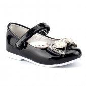 Sema 32 Siyah Günlük Abiye Cırtlı Tokalı Kız Çocuk Babet Ayakkabı