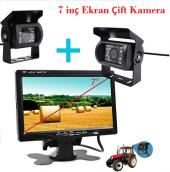 Traktör Biçerdöver 7inç Monitör Çift Kamera Sistemi