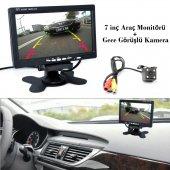 Audiomax Araç 7 İnç Araç Monitör + Park Kamerası Full Set
