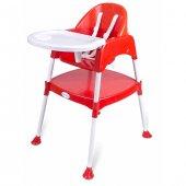 Perilla Çok Amaçlı Pratik Mama Sandalyesi Kırmızı