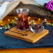 Joy Kitchen Heybeli Ahşap Çay Sunumu (4 Parça)