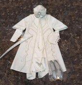 Elit Şehzade Sünnet Elbisesi Şal Ekru Beyaz