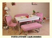 6 Kişilik Mutfak Masası Taytüyü Bank Takımı Masa Sandalye Takımı Yemek Masası