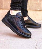 Wagoon Delikli Model Yüksek Taban Siyah Unisex Ayakkabı