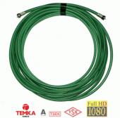 Temka 15metre Rg6 U4 Yeşil Anten Kablosu F Konnektörlü