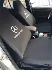 Mercedes Siyah Servis Kılıfı Ön Arka Likralı Set