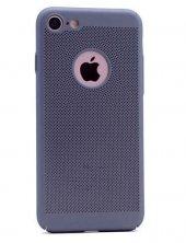 Apple İphone 6 Plus Kılıf Delikli Rubber Kapak Füme