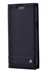 Samsung Galaxy J2 Kılıf Elite Kapaklı Kılıf Siyah