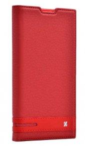 Samsung Galaxy J1 Mini Kılıf Elite Kapaklı Kılıf Kırmızı