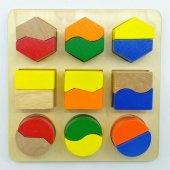 Geometrik Şekiller Ahşap Eğitici Oyuncak