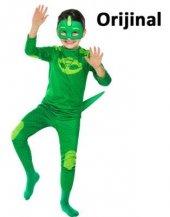 Pijamaskeliler Kertenkele Kostümü Yeşil Pjmasks Kostümü Oriji
