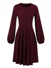 Pileli Kloş Elbise