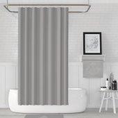 Zethome Jackline Banyo Duş Perdesi 0010 Gri Çift Kanat 2x120x200