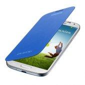 Samsung İ9500 Galaxy S4 Kapaklı Kılıf Mavi Ef Fı950bcegww
