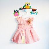 Pileli Dantelli Kız Çocuk Elbise