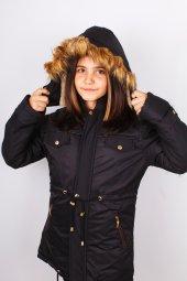 Milan Çocuk Club Kız7 14 Yaş Çocuk Kaban Mont Siyah Renk