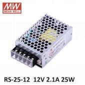 Meanwell Rs 25 12 25w 2,1 Amper Led Trafo Adaptör Güç Kaynağı