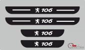 Peugeot 106 Plastik Kapı Eşiği (4lü Set)