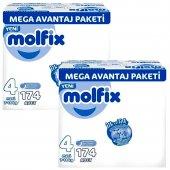 Molfix 4 Beden Maxi 7 14 Kg 174 Adet 2li Set